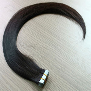 Skin Weft Hair 100% Remy Human Hair Tape Hair Extension pictures & photos