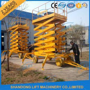 10m Mobile Scissor Lift 4 Wheels Aerial Work Lift Platform pictures & photos