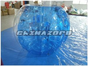 Half Blue and Half Clear Inflatable Bubble Soccer