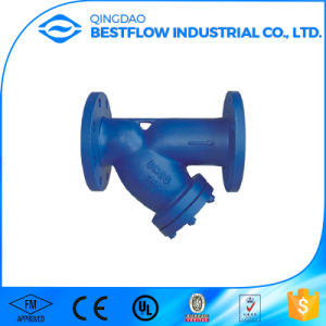 20bar 300psi Awwa FM UL Approved Ductile Iron Flange Ends Y Strainer for Fire Protection pictures & photos