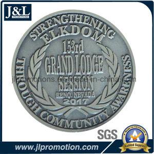3D Head Zinc Alloy Metal Coin Antique Silver Plating pictures & photos