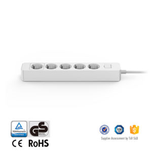 GS/CE Approved Extension Socket 5 Outlet Flexible Length Cord EU Electrical Multi Power Strip pictures & photos