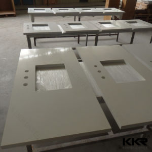 Hot Sale Solid Surface Artificial Stone Customized Bathroom Vanity Tops pictures & photos