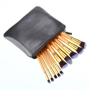 10PCS Golden Handle Makeup Brushes Set pictures & photos