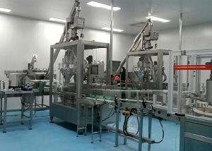 Automatic Powder Feeding-Metal Detecting-Filling-Cans Seaming Line pictures & photos