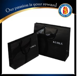 Custom Laninated Bag Black Paper Shopping Bag pictures & photos