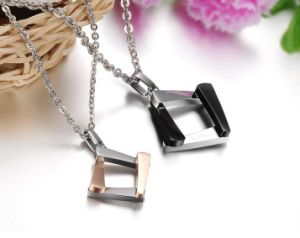 Fashion Couples Necklace 316L Steel Lovers Jewelry Set pictures & photos