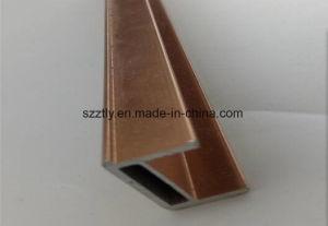Customized Al-6063 T5 Colored Aluminum/Aluminium Anozided Extrusion Profile pictures & photos
