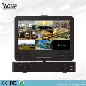 """Economic 4CH Full D1 H. 264 Security Wdm DVR with 10.5"""" Digital LCD Monitor pictures & photos"""