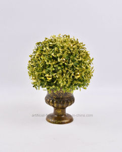 Artificial Milan Leaves Potted with Single/Double Ball for Christmas Decoration pictures & photos