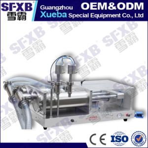 Sfgy-1000-2 Full Pneumatic Double Head Semi Automatic Liquid Filling Machine pictures & photos