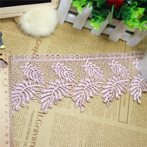 Factory Stock Wholesale 9.5cm Width Embroidery Nylon Lace Polyester Embroidery Trimming Fancy Lace for Garments Accessory & Home Textiles & Curtains pictures & photos