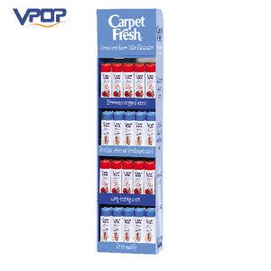 4 Shelves Cardboard Advertising Display Stand for Carpet Fresh