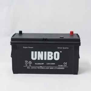 Truck Battery High Performance N120al 12V110ah Maintenance Free Car Battery pictures & photos