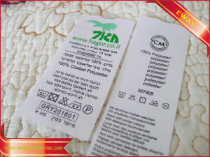 Clothing Printed Main Label Printed Satin Label pictures & photos