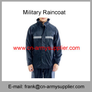 Security Raincoat-Reflective Raincoat-Traffic Raincoat-Army Raincoat-Duty Raincoat-Police Raincoat pictures & photos