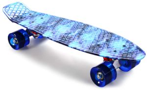 Starry Pattern Skate Board Complete Retro Cruiser Longboard Skateboard pictures & photos