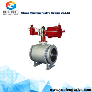 Pneumatic Trunnion Casting Steel Ball Valve pictures & photos