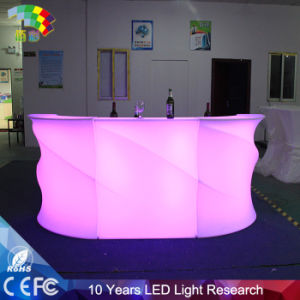 Environmental Friendly LDPE Plastic LED Chair Bar pictures & photos