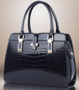 Simple Trendy Ladies Bag Stone Pattern PU Leather Women Handbags pictures & photos