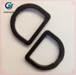 Black Plastic D Ring Buckle for Climbing Backpack in China pictures & photos