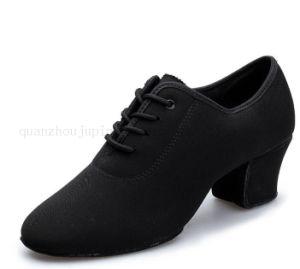 Custom High Quality Oxford Cloth Ballroom Waltz Latin Dance Shoes pictures & photos
