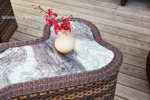 Patio Outdoor Tea Table Wicker Furniture pictures & photos