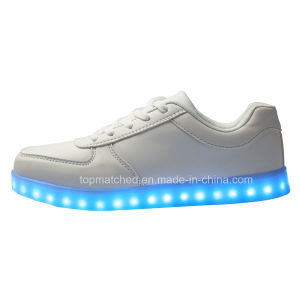 Sliver Colorful Light Stylish LED Shiny Men Shoe pictures & photos