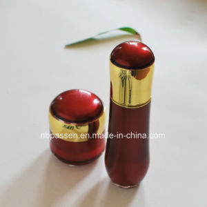 New Red/Gold Acrylic Cream Jar Lotion Bottle for Cosmetics (PPC-NEW-105) pictures & photos