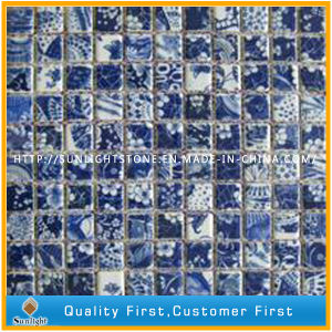 Natural Blue Marble Stone Wall Mosaic for Kitchen/Bathroom Background Decoration pictures & photos