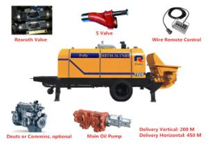 Pully Manufacture High Performance Versatile Diesel Portable Cement Pump (HBT40-08-56RS) pictures & photos