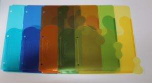 Transparent Dividers, 5-Tab, Multicolo, Set of 5 pictures & photos