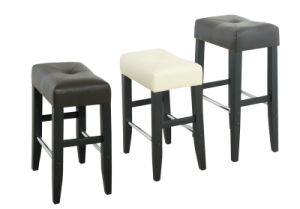 Multiple PU Bar Stool with Wood Frame