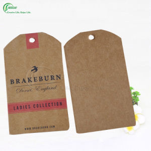 Professional Custom Garment Clothing Label Paper Hang Tag (KG-PA029) pictures & photos