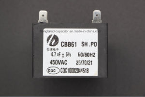 Cbb61 Fan Capacitor with UL VDE and CQC Certificate pictures & photos