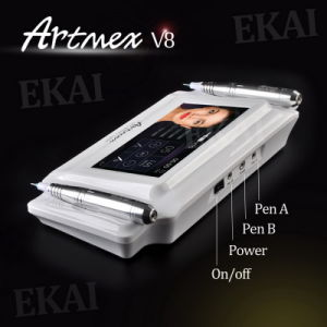 Professional Double Intelligent Handpieces Artmex V8 Semi Digital Permanent Makeup Machine pictures & photos