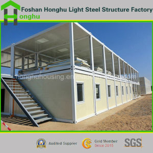 20FT Container House with Sandwich Panel Color Steel Prefab House pictures & photos