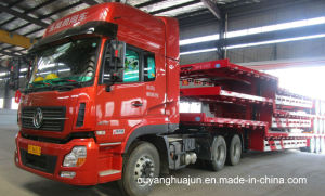 17.5 Low Bed Flatbed Semitrailer pictures & photos