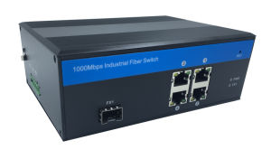 Industrial Poe Optical Fiber Switch with One SFP Fiber-4 RJ45 Port