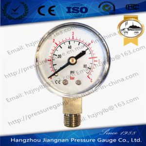 50mm 2′′ General Pressure Gauge with Solid Connection pictures & photos
