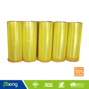 Korean Market Yellow BOPP Adhesive Packing Tape Jumbo Roll pictures & photos