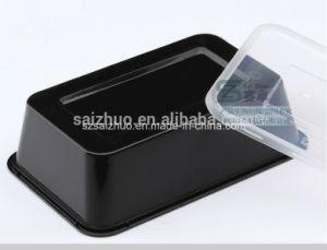 Black Single Compartment Disposable Plastic Food Container Lunch Box (SZ-L-500) pictures & photos