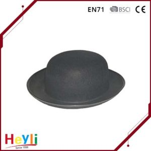 Free Sample Custom Wool Felt Roll up Brim Fedora Hat pictures & photos