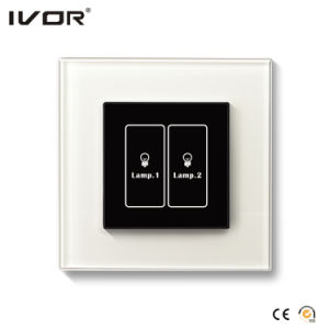 2 Gangs Lighting Switch Touch Panel Glass Outline Frame (HR1000A-GL-L2) pictures & photos