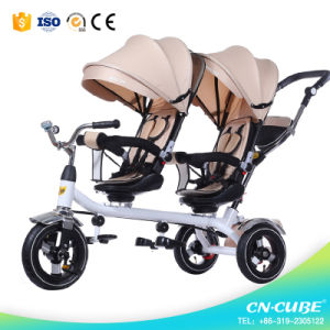 China Hot Sell Child Tricycle Baby Twins Tricycle pictures & photos