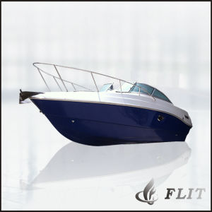 24FT Half Cabin Fiberglass Fishing Boat with Outboard pictures & photos
