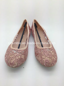 Summer Flat Lady Shoes with Mesh Embroidery pictures & photos