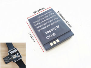 Rechargeable Li-ion Battery 3.7V 380mAh Smart Watch Battery for Smart Watch pictures & photos