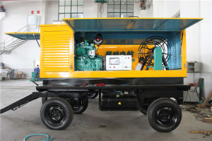 120kw Power Diesel Generator with Trailer Mobile Type