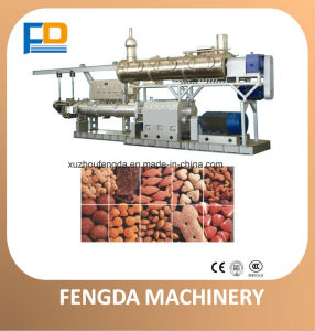 Twin Screw Wet Steam Feed Extruder for Aquafeed and Livestock Feed--Feed Extruding Machine (TSE128) pictures & photos